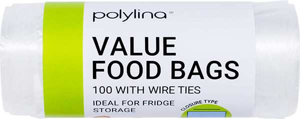 Polylina supply value food and freezer bags ideal for storage in refrigerated conditions