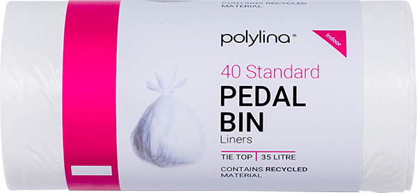 Polylina provide tie-top pedal bin liners