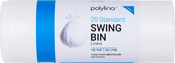Polylina provide tie-top swing bin liners