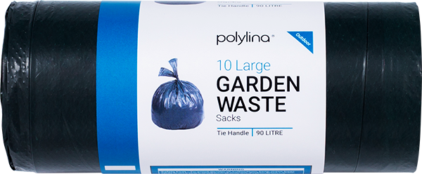 Polylina provide tie handle garden refuse sacks for outdoor use